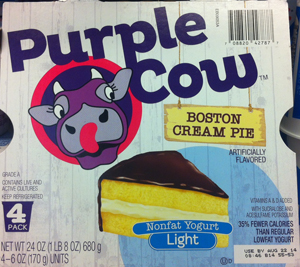 PRIVATE-LABEL PURPLE COW CREAMERY ENTERS REFRIGERATED YOGURT CATEGORY