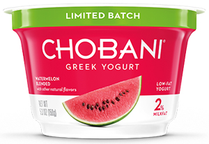 CHOBANI OFFERS NEW YOGURT OPTIONS