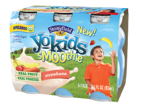 KIDS' YOGURT SMOOTHIE CONTAINS FRUITS AND VEGGIES